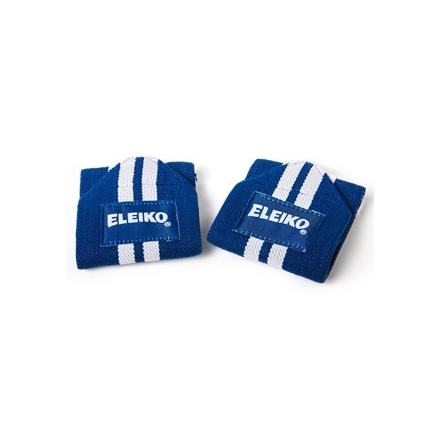 Eleiko Wrist Wraps - Blue/white - cotton