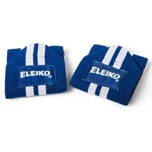 Eleiko Wrist Wraps - Blue/white - cotton