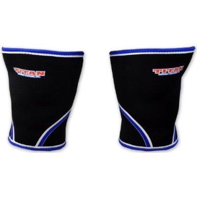 TITAN knee support 7mm- OBS ! svart m grå rand
