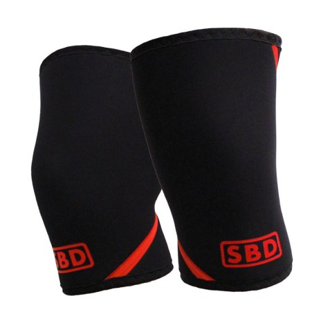 SBD Knee sleeves neoprene Black/Red