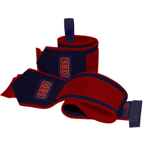 SBD Wrist Wraps flexible, Navy/Red