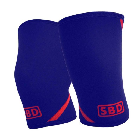 SBD Knee Sleeves  Navy/ Red