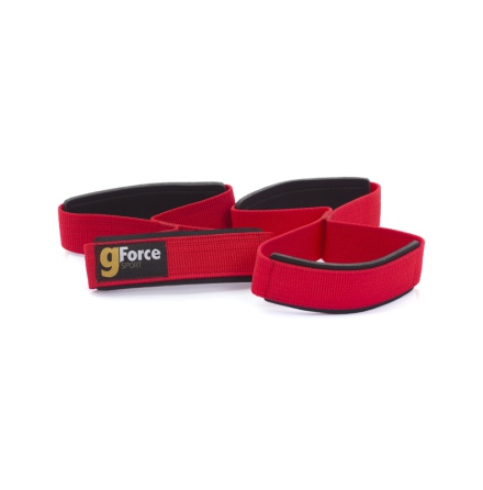 Figure-8 straps, lifting straps, Red Series by gForce