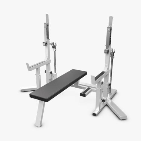 Eleiko Powerlifting Squat/Bench Combo, Grey