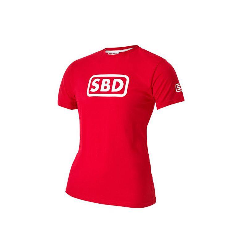 SBD T-Shirt Men's, Red/White