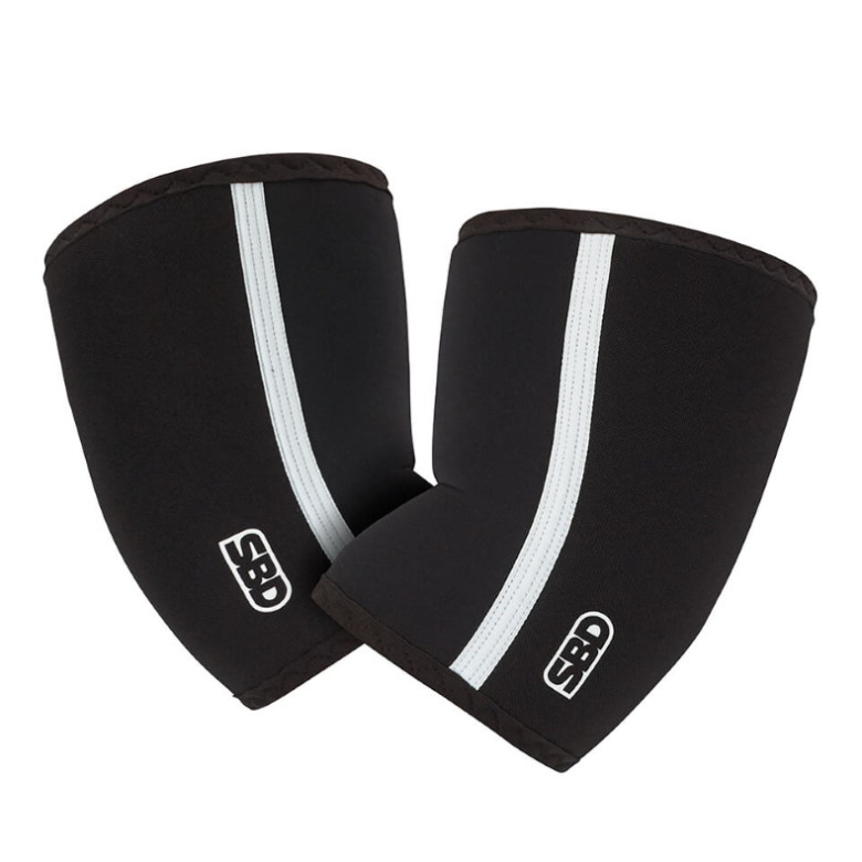SBD Elbow Sleeves, Black/White,