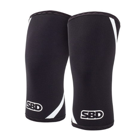 SBD Knee Sleeves, Black/White,
