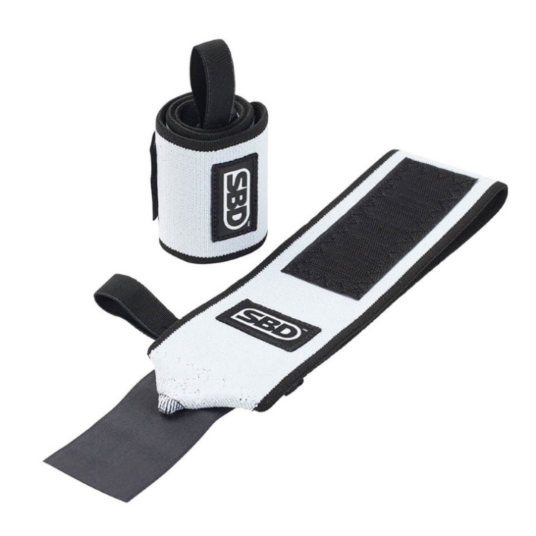 SBD Wrist Wraps, Flexible - Black/White,