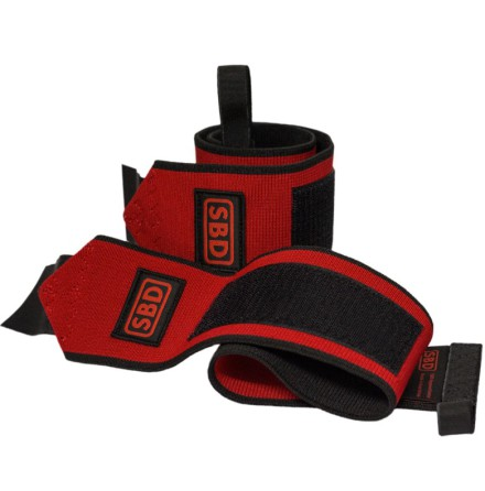 SBD wristwraps flexible, Red/Black
